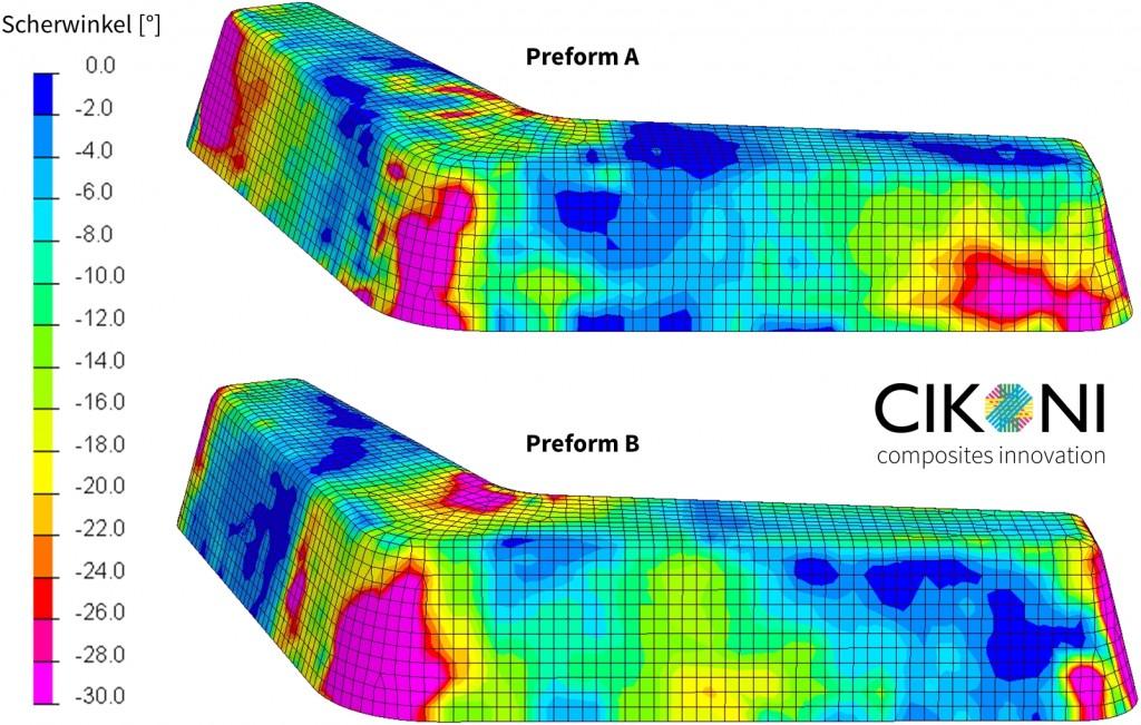 Abbildung 6: Robotergestützte optische Faserwinkelmessung an zwei Preform-Varianten