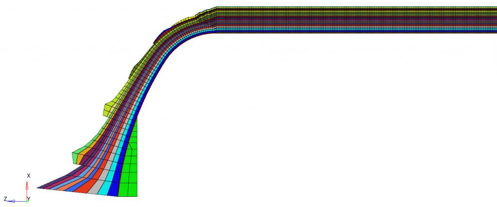 Simulation of pressure vessel
